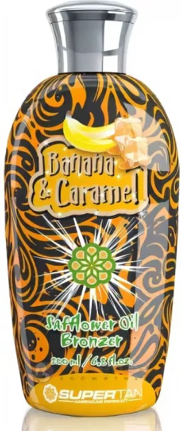 SuperTan Banana and Caramel 200ml Банан и Карамель Бронзатор с шафрановым маслом