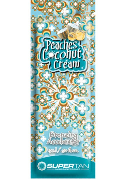 SuperTan Peaches Coconut&Cream 15мл Кокос Персик и Сливки 2 бронз +3 проявителя